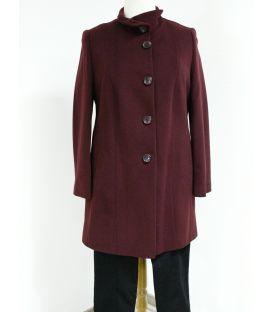 Manteau drap de laine bordeaux 3004