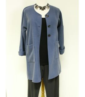 Manteau bleu 736