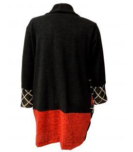Gilet Noir et Rouge 242-FA